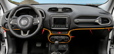FitFor Jeep Renegade 2015-2017 ABS Orange Dashboard Decorative trim Frame 5PCS