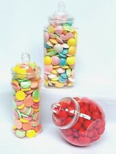 3 Large Empty Plastic Sweet Jars for Sweet Tables, Storage, Candy Buffets