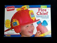 1992 Vintage Playskool Fire Chief Electronic Helmet & Kit NEW in Unopened Box