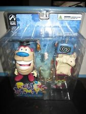 "REN AND STIMPY SHOW  STIMPY AND ""LOG FOR GIRLS"" TOY DOLL FIGURE BY  PALISADES"