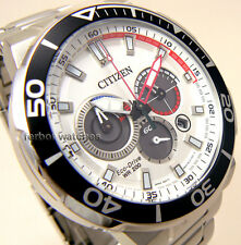 CITIZEN MEN ECO DRIVE CHRONO DIVER STAINLESS STEEL 200m  CA4250-54A