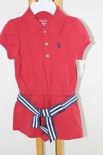 Ralph Lauren Polo Baby Girls Size 12 Months 1PC Outfit Short Top NWT NEW Red