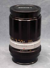 OLD SCHOOL MF KONICA HEXANON 135MM F3.5 LENS W/CAPS - FREE USA SHIPPING