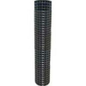 4' HIGH WELDED WIRE YARD GUARD FENCE BLACK VINYL COATED 1″ x 1″ 50' ROLL 16ga