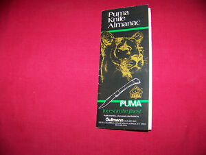 1985 Puma Knife Gutmann Cutlery Co. Reprint Puma Dating Chart Catalog Flier Copy