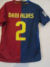 Dani Alves Firmado 2008-2009 Barcelona Home Football Shirt Con Coa