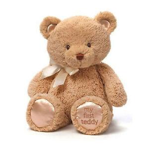 """My First Teddy Bear TAN/BEIGE 15""""/38cm by BABY GUND soft plush toy MEDIUM - NEW"""