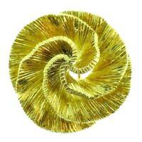 MAUBOUSSIN Paris 18k Yellow Gold Swirl Brooch / Clip Vintage Circa 1980s