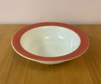 "Pyrex Flamingo Pink Banded Rim 9"" Soup Vegetable Bowl Vintage Dinnerware Set"