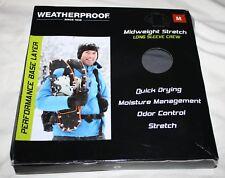 Weatherproof Performance Base Layer Mens Size Medium Charcoal Long Sleeve Crew