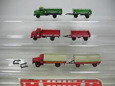 AF388-0,5# 3x Brekina H0 Lastzug: MAN Spatenbräu+Thomas-Bräu, Mercedes MB, NEUW