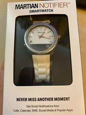Martian Notifier White Smartwatch New in Factory Sealed Box