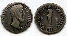 "Beautiful large silver denarius imitating Domitian, ""Free Dacians"", 2nd century"