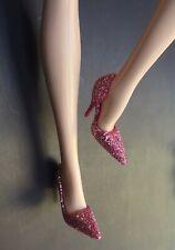 Barbie Model Muse Pink Glittery Pumps Pivotal Vintage Silkstone Poppy Parker FR2
