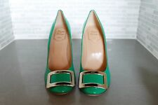 Roger Vivier Green Patent Leather Heels Size 39