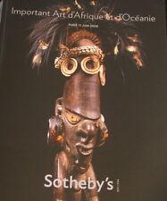 SOTHEBY'S Important Art d'Afrique et d'Oceanie 6/11/2008