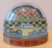LAS VEGAS NEW YORK NEW YORK CAB CO. SOUVENIR PLASTIC SNOW GLOBE