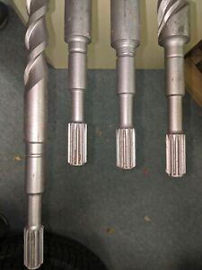 """4 spline masonry concrete core Drill Bits for hammer drilling 35"""" long"""