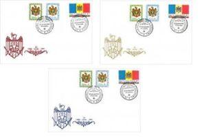 Moldova 1991 set of 3 FDC First Stamp of Sovereign Moldova MNH