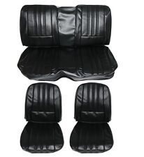 PG Classic 6616HT-BUK-100 1968 Barracuda Deluxe style Seat Cover Set (Black)