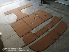 "1995-1999 Sea Ray Sundancer 330 Cockpit mat 1/4"" 6mm EVA  Teak Decking  floor"