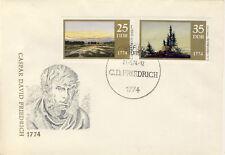 Ersttagsbrief DDR MiNr. 1960-1961, 200. Geburtstag von Caspar David Friedrich