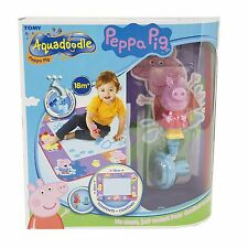 Tomy 72034 Peppa Pig Aquadoodle Water Drawing Large Mat includes Pen & Stamp
