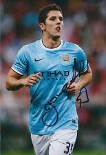 Stevan JOVETIC Signed Autograph 12x8 Photo AFTAL COA Man City Premier League