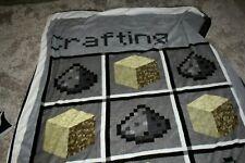 Official Minecraft Kids,Teens, Full Size Crafting Throw, Blanket  Jinx, Mojang