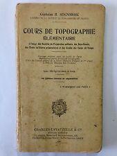 COURS DE TOPOGRAPHIE 1925 CAPITAINE SEIGNOBOSC ILLUSTRE