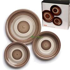 Servizio CIRCLE tavola 18 pezzi in ceramica nocciola beje piatto cucina EX-