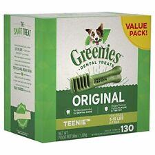New listing Greenies Dog Dental Chews Dog 130 Treats Teenie Size 5-15 lb Dogs Vohc Accepted