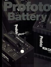 PROFOTO BATTERY CATALOG/BROCHURE (ORIGINAL PRINT/not copies)