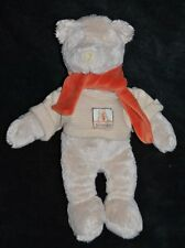 Peluche doudou ours beige MOULIN ROTY Linvosges Basile pull rayé 32 cm TTBE