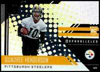 2018 Panini Unparalleled #234 Quadree Henderson NM-MT RC Rookie Steeler ID:17467