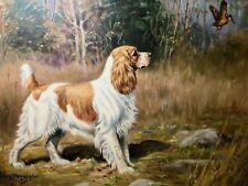 Edwin Megargee Print, Cocker Spaniel 1940's Field and Stream Sporting Gun Dogs