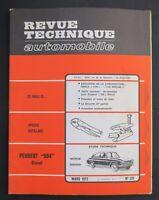 REVUE TECHNIQUE AUTOMOBILE RTA PEUGEOT 504 SIMCA 1100 n°311