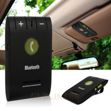 Wireless Bluetooth 4.0 Slim Magnetic Handsfree Car Kit Speaker Phone Visor Clip