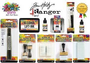 Tim Holtz Ranger Yupo Paper, Ink Storage tin, Ink Applicators, Lift ink, brushes
