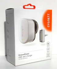 CYGNETT GroovePower wall charger for iPad and iPhone - NEW