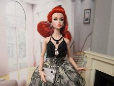 Poppy Parker Dynamite Girl Barbie NuFace ITBE Handmade Outfit Black White Lace
