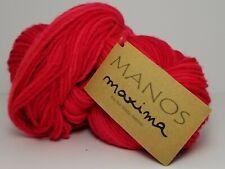 Manos Del Uruguay Maxima Yarn - Merino Wool 219 yds - Speeding Ticket Red M2169