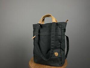 Fjallraven Ornskoldsvik G-1000 Black Tote & Rucksack Backpack No.1 Small Unisex