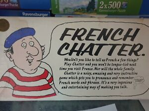 371 French Chatter Educational Language Game Vintage 1972 For 2-6 Players