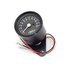 Mini Tach Universal Black Motorcycle Mechanical 12K RPM Tachometer Gauge 1:7