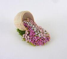 Dollhouse Miniature Artisan Handmade Spilled Pot of Impatiens Flowers, #1