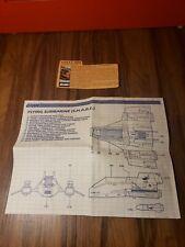 1984 GI/G.I. Joe SHARC/S.H.A.R.C. original BLUEPRINTS Deep Six File Card