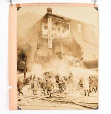 1940's Fireman Fire Photo Philadelphia 10 1/2 x 13 1/2 Laboratory Explosion V33