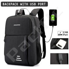 Anti Theft Backpack Waterproof Bag School Travel Laptop Bags + USB Charging Port
