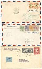 Fam 6 (1929-1930) F6-22b F6-26e F6-8 ( 3 cvr) St Lucia, Brit Guiana, Haiti
